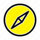 compass, instagram, navigation icon