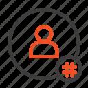 hashtag, contact, tweet, follow, tag