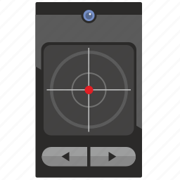 aim, device, gps, location, scanner icon
