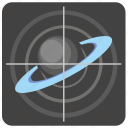 geo, location, saturn, ship, space, target icon