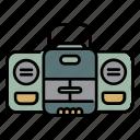 audio, cassete, recorder, tape recorder
