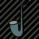 brass, music, instrument, sexophone