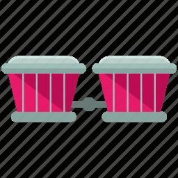 bongos, instrument, music, musical icon