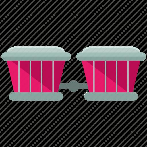 bongos, instrument, music, musical, play, sound icon