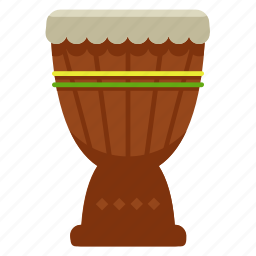 djembe, instrument, music, musical, percussion, play, sound icon