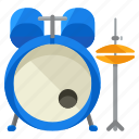 drums, instrument, music, musical, set icon