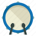 drums, instrument, music, musical, play, sound, sticks icon