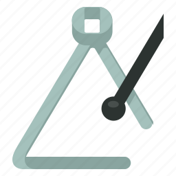 instrument, music, percussion, play, sound, triangle icon