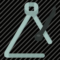 instrument, music, percussion, triangle icon