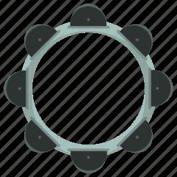 instrument, music, musical, tambourine icon