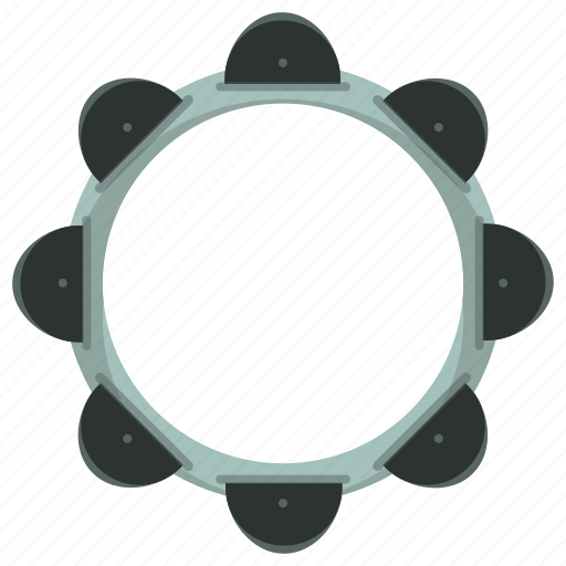 Tambourine, instrument, music, musical icon - Download on Iconfinder