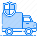 auto insurance, cargo safety, insurance carrier, transport insurance, vehicle insurance, vehicle protection icon