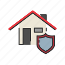 estate, home, house, insurance, protection, shield