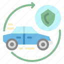 automobile, car, insurance, security, transportation icon