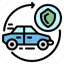 automobile, car, insurance, security, transportation icon