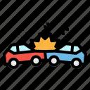 car, crash, insurance, reach, transportation icon