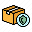 box, delivery, insurance, packaging, shipping icon
