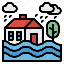 ecology, environment, flood, storm, water icon