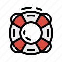 help, lifebuoy, lifeguard, lifesaver icon