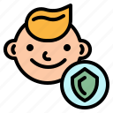 baby, care, insurance, kid, protection icon