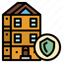 building, insurance, protected, public, safe icon