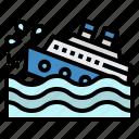 crashes, danger, fleet, ship, trip
