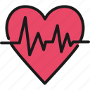 healthcare, heart rate, hospital, insurance, life, medical, protection icon