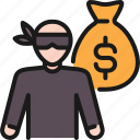 burglar, crime, insurance, robbery, security, steal, thief icon