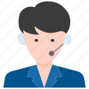 business, call center, client, customer, insurance, service, support icon