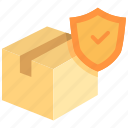 box, cargo, delivery, goods, insurance, shipping, transport icon