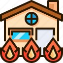 estate, fire, home, house, protection, safety, shield
