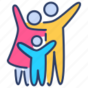 family, family insurance, family planning, happy, insurance, life, planning icon