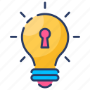 brand, copyright, intellectual, key, license, patent, property icon