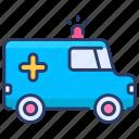 ambulance, car, emergency, medical, medicine, transportation, vehicle icon