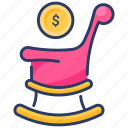 currency, finance, insurance, money, pension, plan, retirement icon