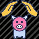 bank, control, finance, piggy bank, protection, savings icon