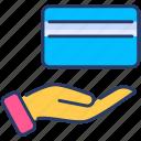 bribe, business, cash, finance, hand, loan, money icon