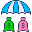 business, cash, finance, insurance, investment, money, protection icon