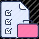 accounting, audit, bag, cart, checklist, insurancem, shopping icon