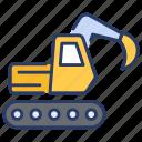 equipment insurance, excavator, heavy machine, insurance, machine, robot