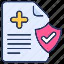 health, healthcare, hospital, insurance, medical, medicine, shield icon