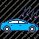 auto insurance, car, car insurance, damage, hail, transportation, vehicle icon