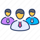 applicant, business, competitors, employee, responsibility, user icon