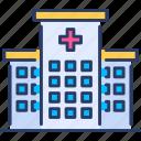 hospital, hospital indemnity insurance, indemnity, insurance, medical, protection icon