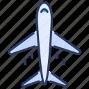 aircraft, airplane, insurance, plane, tourism, transportation, travel icon