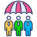 group insurance, group life insurance, insurance, life insurance, life protection, protection, umbrella icon