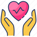 cardiogram, wellness, care, giving, healthy, heart, life icon