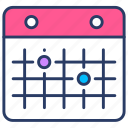calendar, calender, date, insurance, renewal, schedule, timetable icon
