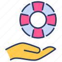 care, insurance, insurance service, protection, safety, service, support icon