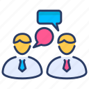 business, business meeting, interview, legal assistance, marketing, office, teamwork icon